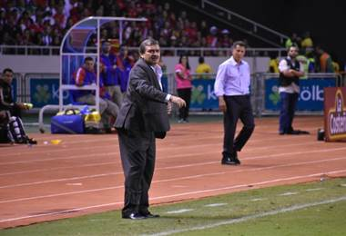 Óscar Ramírez, técnico de la Selección Nacional de Costa Rica