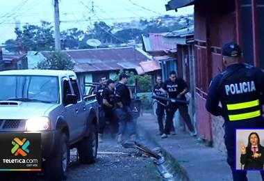 Allanamiento en La Milpa, Guararí de Heredia.