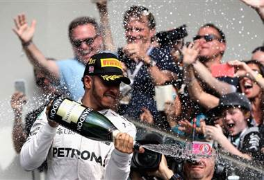Lewis Hamilton, piloto británico de la escudería Mercedes.