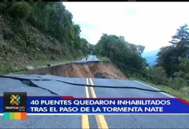40 puentes quedaron inhabilitados tras el paso de la tormenta Nate