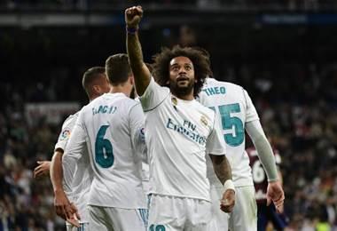 Marcelo anotó el tercer tanto del conjunto merengue