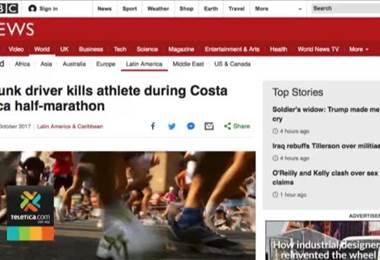 Medios internacionales hicieron eco sobre muerte de atleta en Costa Rica