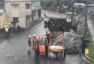 Trabajos de AyA complican el tránsito entre Tibás y La Uruca