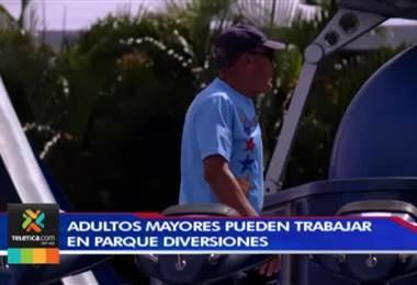 Parque Diversiones da empleo a adultos mayores