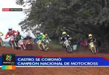 Roberto Castro se coronó por tercera vez consecutiva como campeón nacional de motocross