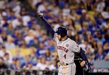 George Springer de los Houston Astros. AFP