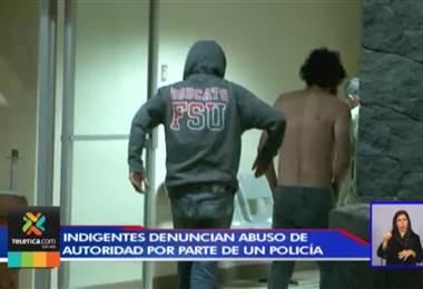 Indigentes denuncian en OIJ a policía