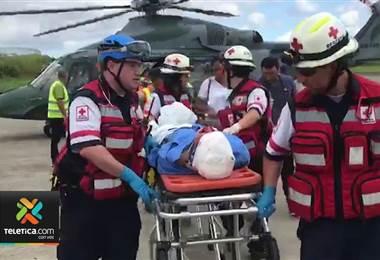 Policías accientados en Guácimo