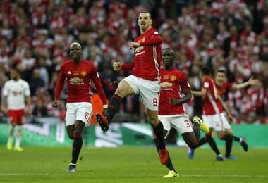 Zlatan Ibrahimovic, delantero sueco del Manchester United.