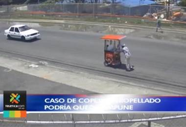 Copero atropellado en Pavas