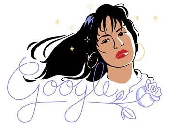 Google recuerda a Selena con un doodle 22 años después de su muerte