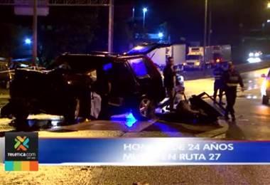 Un muerto y un herido grave tras vuelco de vehículo en ruta 27