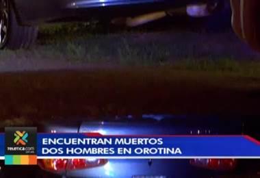 Dos hombres aparecieron sin vida, con impactos de bala y amordazados en Orotina, ruta 27