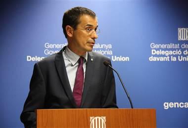 El representante del gobierno catalán ante la Unión Europea, Amadeu Altafa.