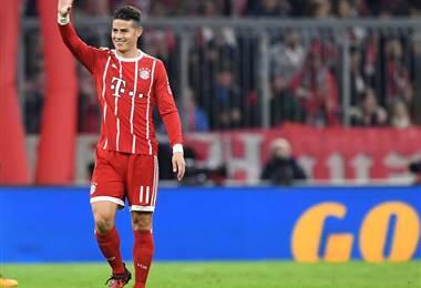 James Rodríguez, jugador del Bayern Munich. Bayern Munich en Facebook