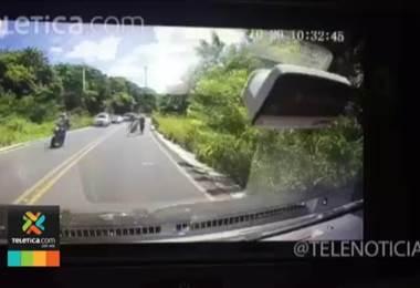 Video muestra momento del choque entre el carro y los seis ciclistas en Guanacaste