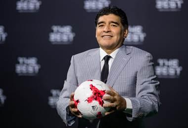 Diego Maradona durante la gala de los premios The Best.