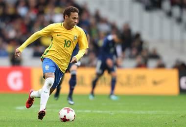 Neymar Jr., atacante de la Selección de Brasil.