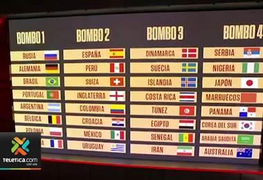 Costa Rica evitará a Suecia y tres selecciones africanas en el sorteo del Mundial