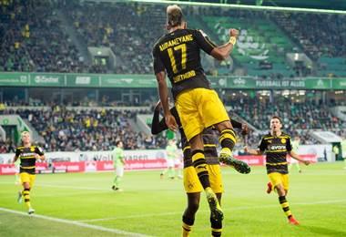 El delantero gabonés del Borussia Dortmund Pierre-Emerick Aubameyang.