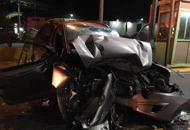 Video muestra el momento del mortal accidente de diputado del PLN