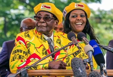 Presidente de Zimbabue da discurso