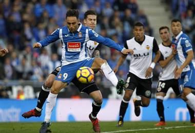 El Espanyol no pudo frenar en su casa al Valencia