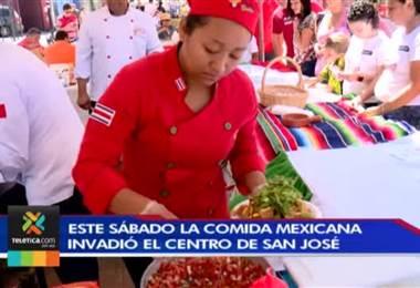 La comida mexicana invadió el centro de San José en un delicioso festival gastronómico