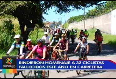 Rinden homenaje a ciclistas fallecidos en accidente de tránsito este año