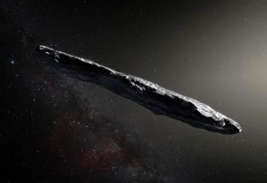 Descripción de un artista de cómo sería Oumuamua