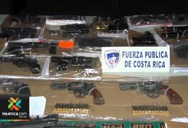 En Costa Rica se decomisan cinco armas de fuego al día