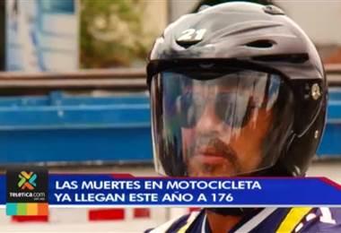 Cantidad de fallecidos en motocicleta ya llegan a 176 en este año
