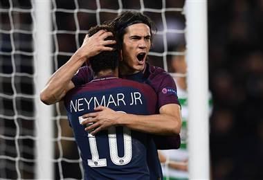 Neymar Jr. y Cavani anotaron doblete para el conjunto del PSG.