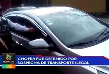 Policía de Tránsito se llevó un vehículo con todo y conductor que sería de Uber