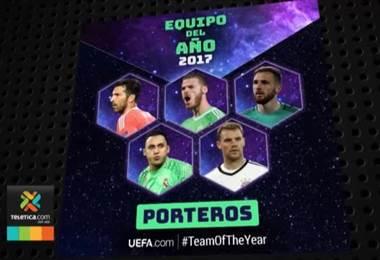 Keylor Navas fue nominado al equipo ideal de la UEFA