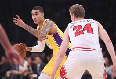 Kyle Kuzma, canastero de Los Angeles Lakers.