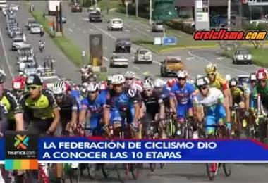 Federación de ciclismo dio a conocer los recorridos de las etapas de la Vuelta a Costa Rica