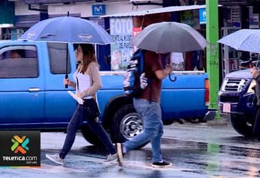 Pronostican un miércoles muy lluvioso para el Valle Central y el Pacífico