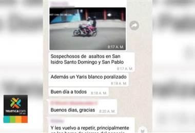 Chat une a comerciantes y autoridades en lucha contra el hampa en San Pablo de Heredia
