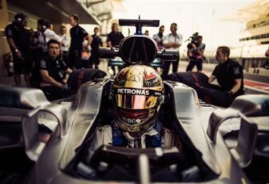 El piloto británico de la escudería Mercedes, Lewis Hamilton.
