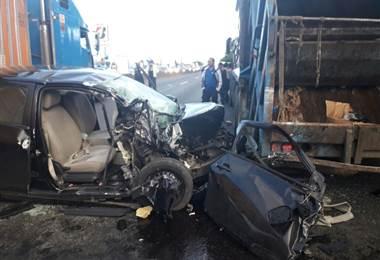 Aparatoso accidente en autopista General Cañas deja una persona herida grave