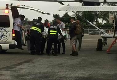 Oficial de OIJ accidentado en Zona Sur es trasladado de emergencia vía aérea a San José
