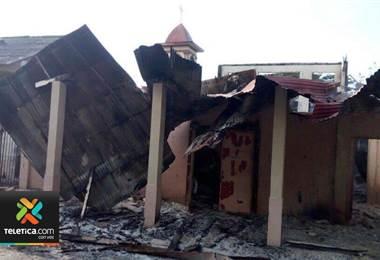 Incendio en la comandancia de Isla San Lucas dejó pérdidas millonarias