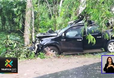 Agente del OIJ murió y su compañero resultó herido tras choque de vehículo con árbol