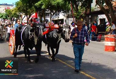 Entrada de boyeros a la capital dio inicio a las fiestas de fin de año en San Jose