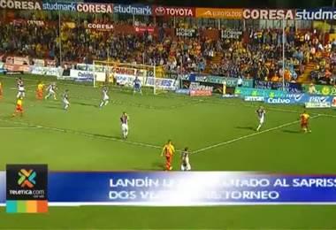 Luis Ángel Landín espera seguir con su cuota goleadora ante Saprissa