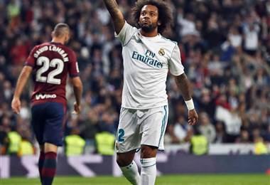 Marcelo, lateral brasileño del Real Madrid.