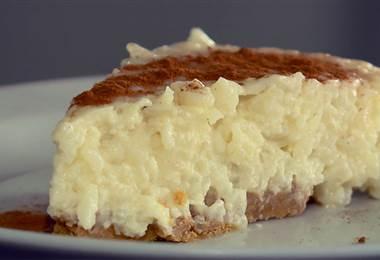 Convierta su arroz con leche en un delicioso cheesecake