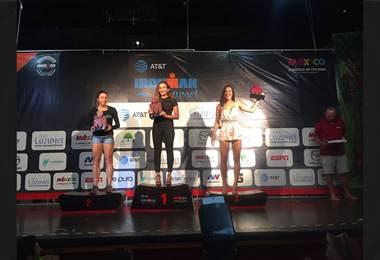 Johanna Solano quedó en tercer lugar en el Iroman de Cozumel en México
