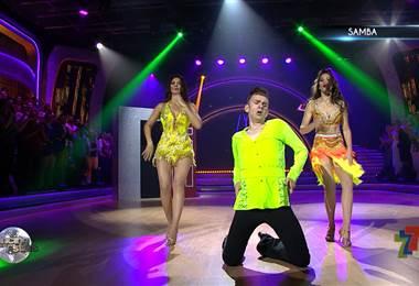 Víctor y Monserrat del Castillo se movieron al ritmo de la samba en Dancing With The Stars